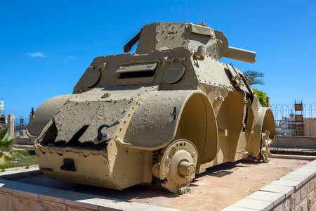 Fiat-Ansaldo Autoblinda 41 (AB 41) Italian armoured car on display at the El Alamein War Museum in northern Egypt.