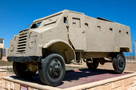 An Armoured Troop carrier on display at the El Alamein War Museum in northern Egypt.
