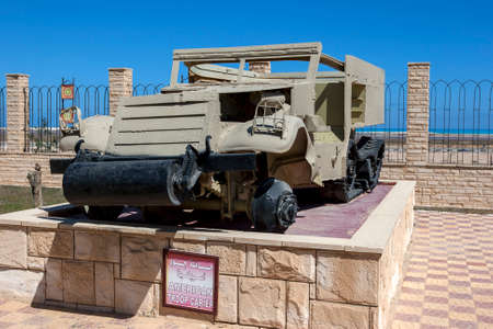 An American Troop Carier (carrier) on display at the El Alamein War Museum in northern Egypt.