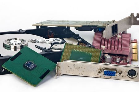Few pieces of bad hardware, hard disk, processors and PC cards