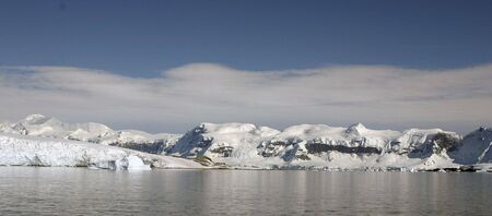 antarctic peninsula: mountains covered with snow and ice in Antarctic peninsula
