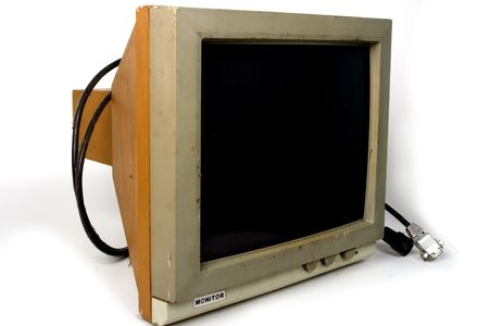 Very old PC monitor Stock Photo - 7215832