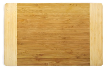 surface view: Kitchen cutting board made from bamboo, clipping path included Stock Photo