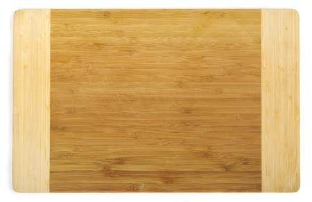 trompo de madera: Tabla de corte de cocina de bamb�, trazado de recorte incluido Foto de archivo