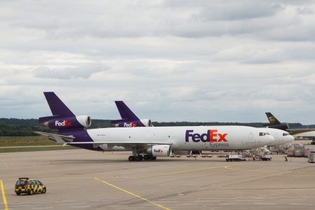 COLOGNE - JUNE 13:Fedex McDonnell Douglas DC-10 airplane located in Cologne airport, Germany on June 23, 2011. Fedex is the biggest shipping/cargo company in the world serve over 300 destinations worldwide