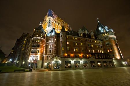 Night shot of Chateu Frontenac, Quebec, Canada