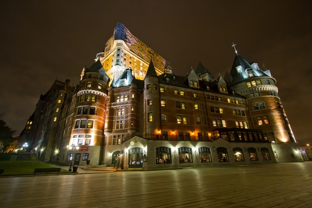 Night shot of Chateu Frontenac, Quebec, Canada