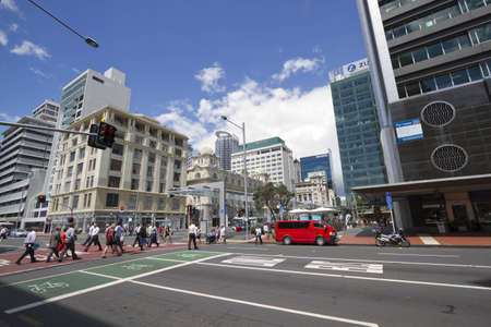 Crossroad in Auckland, New Zealand during day