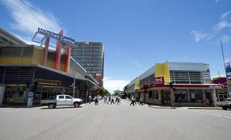 Street in Darwin, Australia, capital of Northern teritory
