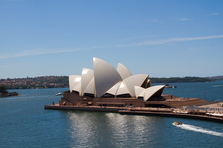 SYDNEY - FEBRUARY 16: One of the the most beautiful buildings of the planet, built in 1973, famous Sidney Opera House, February 16, 2012 in Sydney, Australia. Editorial