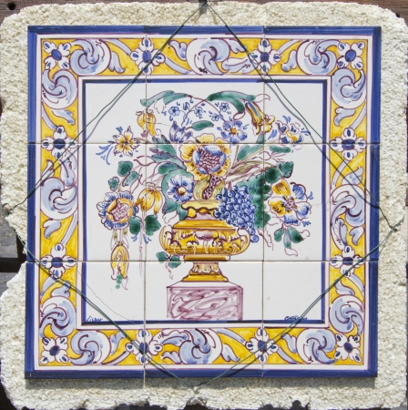Traditional Portugal hand painted tiles photo