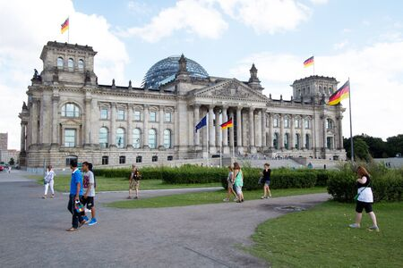 BERLIN, AUGUST 6: reichstag, berlin, germany. Reichstag is German parliament. August 6, 2012. Editorial