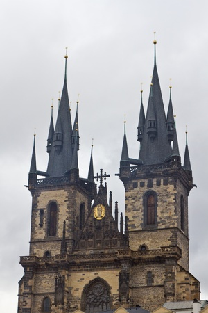 Old Town Hall Tower in Prague Stock Photo