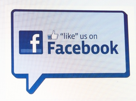 web scam: RIJEKA, CROATIA - FEB 25: A close-up view to the Facebook like button on LCD screen. This form is the most widely known among similar. February 25, 2013 in Rijeka, Croatia.