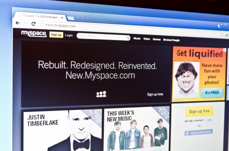 myspace: RIJEKA, CROATIA - FEB 25: Myspace has opened up its completely redesigned website to the public, allowing anyone to sign-up for an account, create a new profile and start experimenting with the updated social networking service.