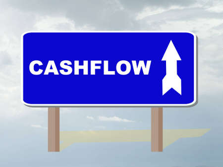 cashflow: roadsign showing direction to cashflow