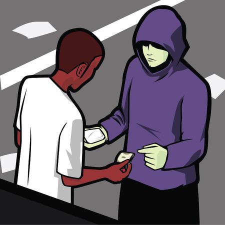 hooligan: Small Time Drogen befassen im st�dtischen Bereich, zwischen zwei junge M�nner