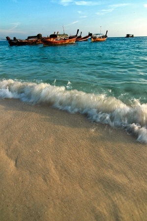 boat and beach of THAILAND photo