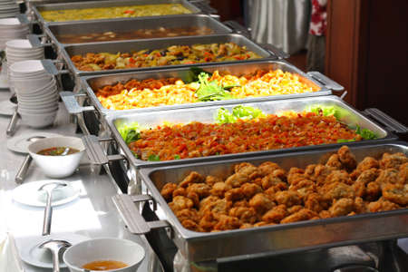 Tray of food in the buffet. Stock Photo - 10750339