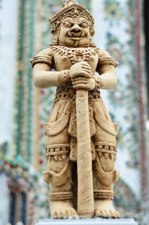 thaiart: Statue at the Grand Palace Stock Photo