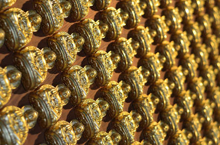 Pattern of gold chinese buddha Stock Photo - 16082046