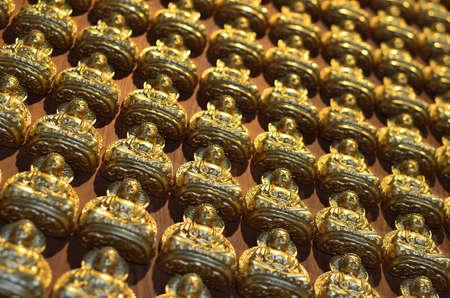 Pattern of gold chinese buddha Stock Photo - 16082045