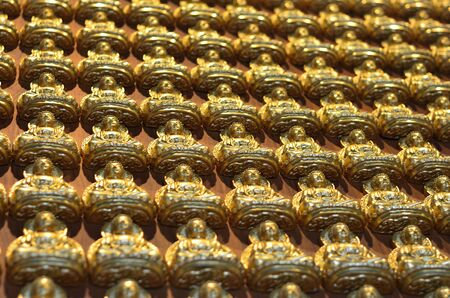 Pattern of gold chinese buddha Stock Photo - 16082079
