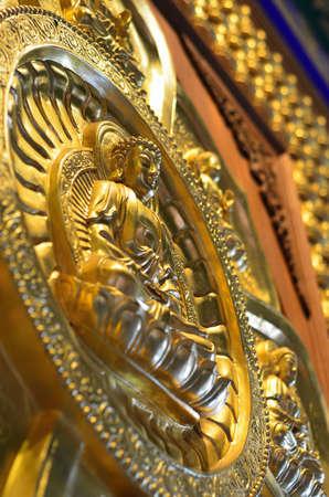 Pattern of gold chinese buddha Stock Photo - 16082063