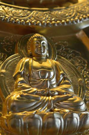 chinese buddha: Pattern of gold chinese buddha