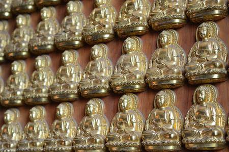 Pattern of gold chinese buddha photo