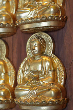 Pattern of gold chinese buddha Stock Photo - 16082111