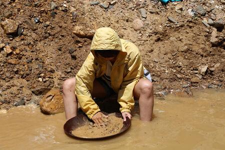 woman gold digger Stock fotó