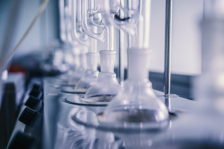 Laboratory equipment, glass bottles