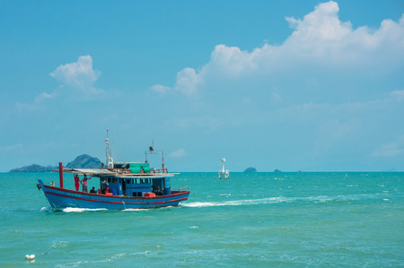 A mackerel fishery boat in Satun Thailand.