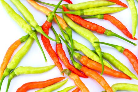 chili pepper on white background.