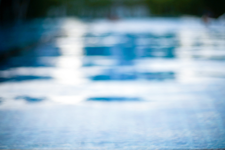 Focus blur of swimming pool for background.