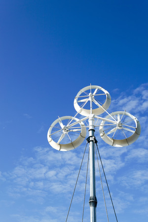 Wind turbines generating electricity with blue sky,renewable energy source