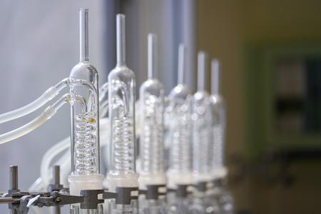Spulenkondensator von Soxhlet Extraction, Laborausstattung.