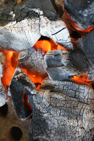 Fire, charcoal, Charcoal Stove burning grill