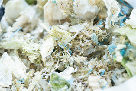 Plastic bag waste degradation for the recycled. Waste management concept