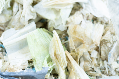 Plastic bag waste degradation for the recycled. Waste management concept Banco de Imagens - 123916815