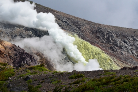 active volcano: Active volcano Stock Photo