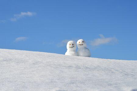 雪だるま 写真素材