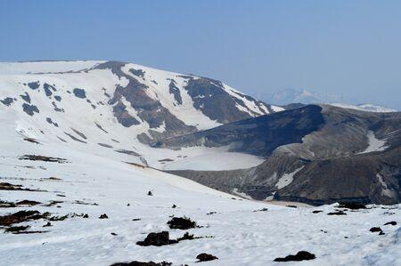 goshiki: Mount Za in spring Stock Photo