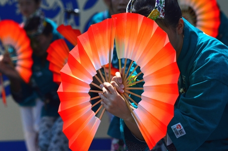 Festivals and dance with a fan