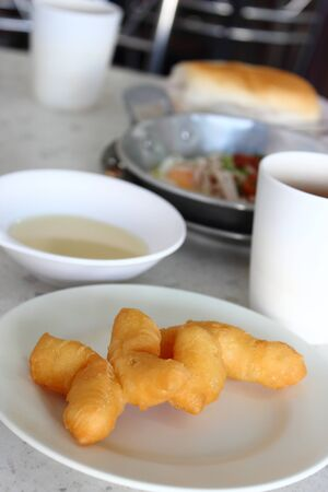 Deep-fried dough stick breakfast or snack of the chinese people