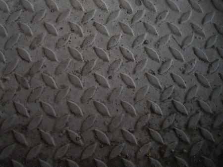 A diamond plate bumped metal texture Stock Photo
