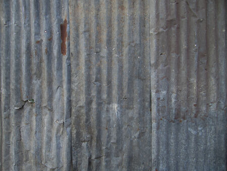corrugation: old steel sheet roof