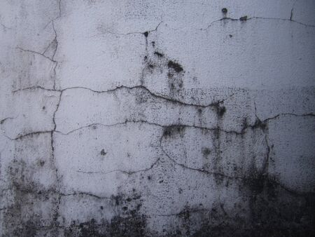 squalid: old cracked dirty wall Stock Photo