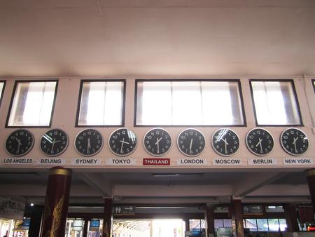 timezone: timezone international clocks at chiang mai thailand train station